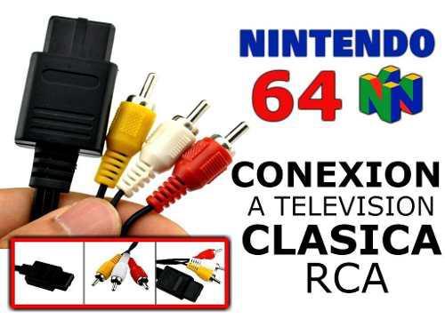 Cable Audio Video Conexión A Tv N64 Nintendo 64