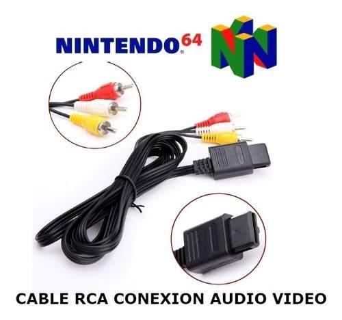 Conexion A Tv Rca Audio Video Nintendo 64