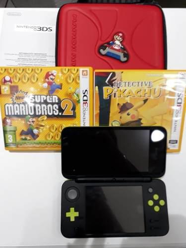 Consola Nintendo 3ds + Cargador 220v + 2 Juegos Mario Kart
