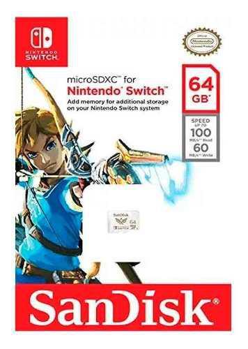 Memoria Micro Sdhc 64gb 100mbs Para Nintendo Switch