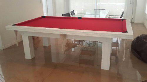 Mesa De Pool Profesional Laqueada Incluye Kit Accesorios