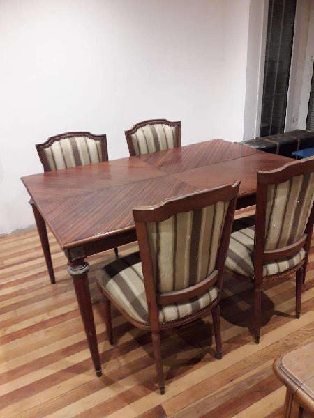 Vendo Mesa Y 4 Sillas Luis Xvi