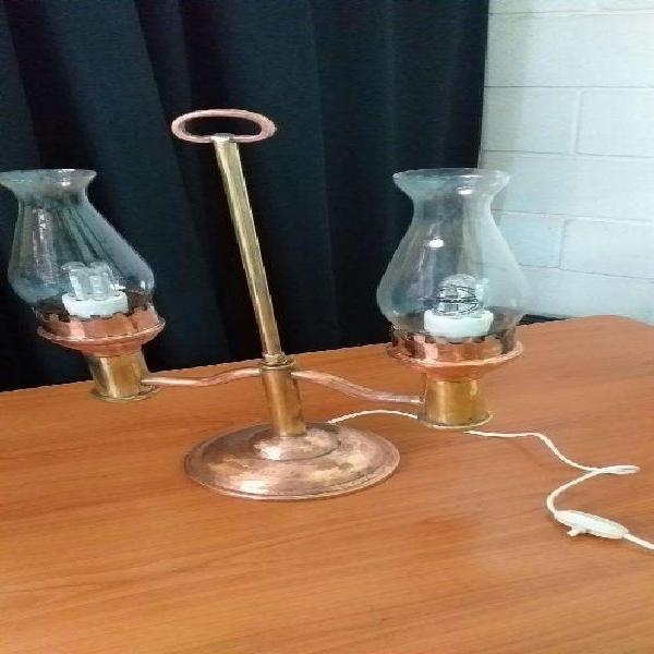 ANTIGUA LAMPARA DE COBRE Y BRONCE