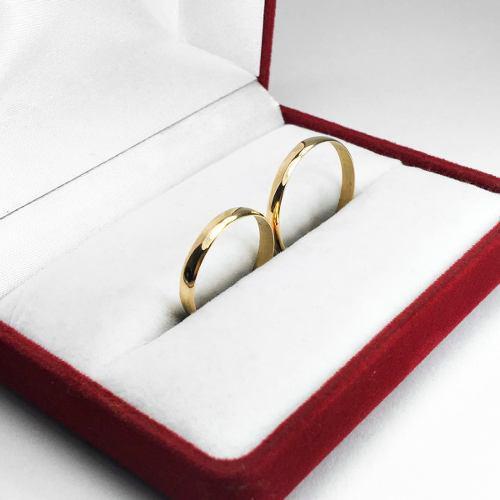Par Alianzas Oro 18k Anillos 2,5 Grs Casamiento Compromiso