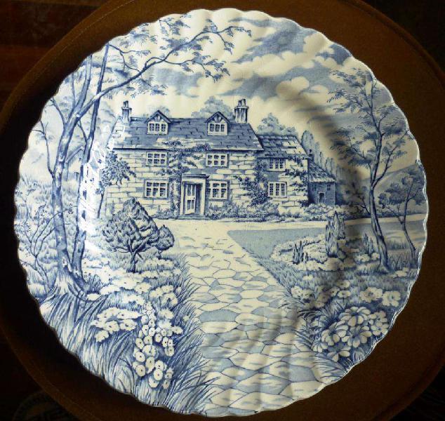 Plato de porcelana inglesa British Anchor 1884