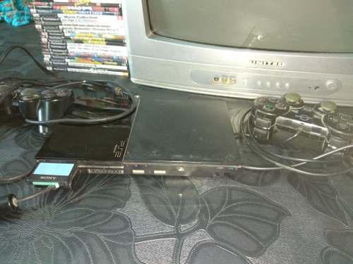 Playstation 2 En Buen Estado (con Juegos) Sin Tv