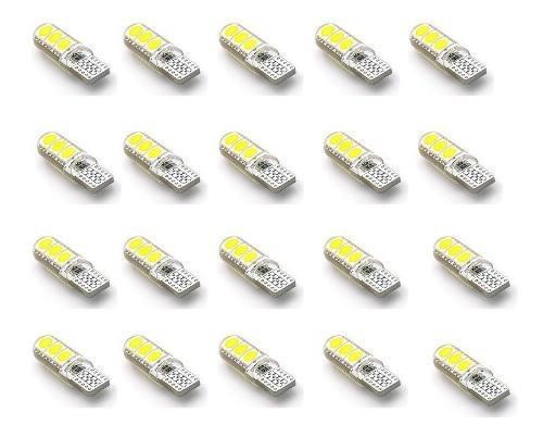 20 Lampara Led Posicion T10 Piojito Silicona Gel Canbus 12v