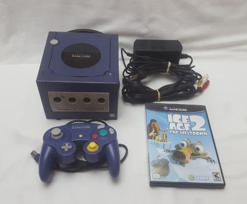 Nintendo Gamecube Indigo Original De Fabrica Completa 220v