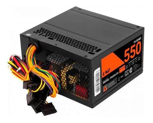 Fuente Pc Lnz Px550-fs Cooler 8cm 24 Pin Cpu 4pin Sata Oem