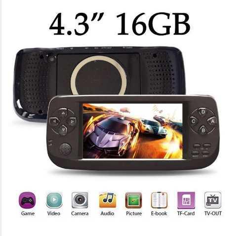 Mp5 16 Gb Exp 32gb Consola 10000 Juegos Videos Lcd 4.3¨ La+
