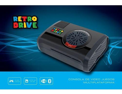 Consola De Videojuegos Retrodrive 64gb + 4 Joy Usb + 32gb