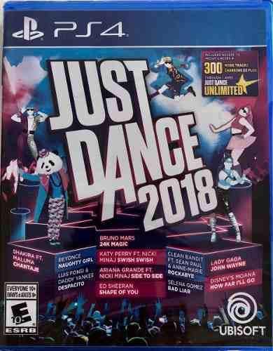 Just Dance 2018 Juego Ps4 Físico Sellado Original Oferta