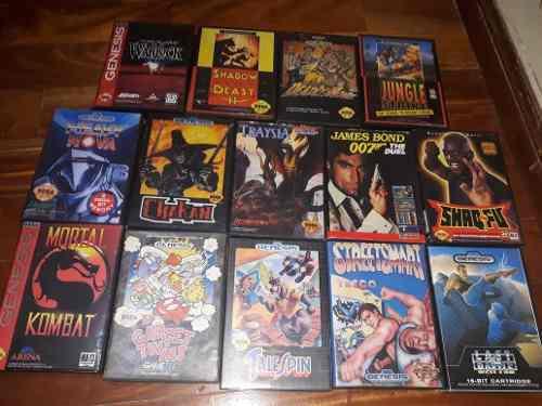 Lote 14 Juegos Sega Genesis Originales En Caja