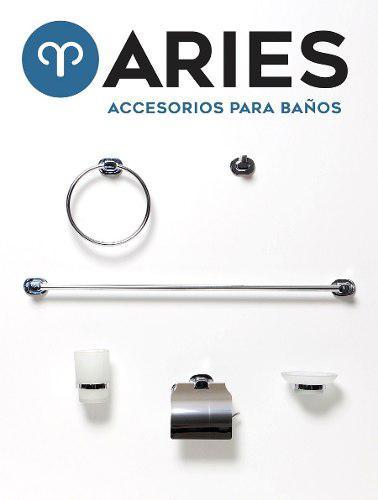 Kit De Accesorios Para Baños 6 Piezas Cromo Y Vidrio M-4700