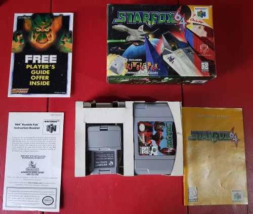 Juego Nintendo 64 N64 Star Fox Completo Excelente Estado!!