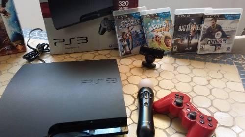 Playstation 3 Play 320 Gb Kit Move Juegos Originales + Envio