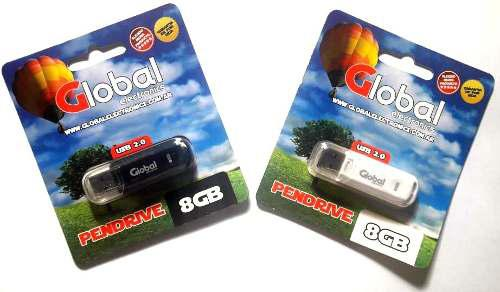 Memoria Usb Pendrive Global 8 Gb Usb 2.0 Micro Flash Drive