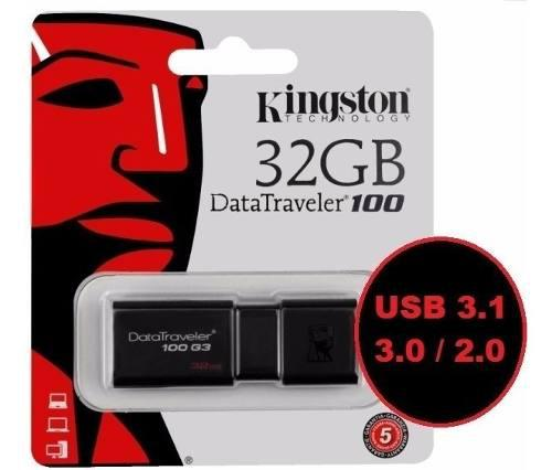 Pen Drive 32 Gb Kingston 100% Original - Usb 3.1 / 3.0 / 2.0