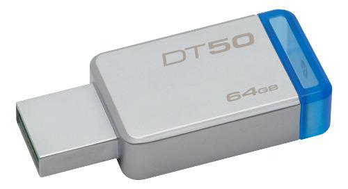 Pen Drive Usb 64gb Kingston 3.0 Dt 50 Azul