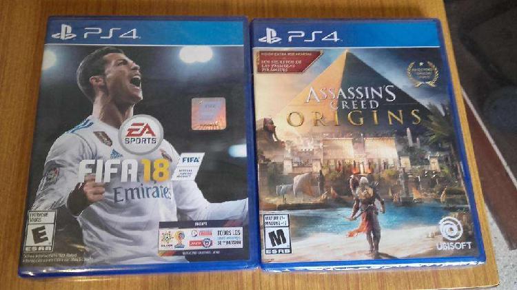 Fifa 18 Assassins Creed Origins Nuevo En Caja Sellada