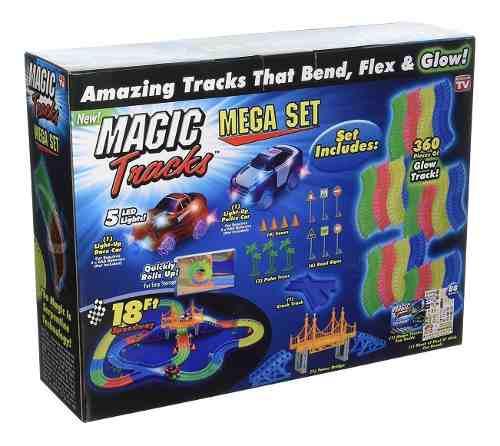 Pista De Autos Flexible Luminosa 360 Piezas Magic Brilla