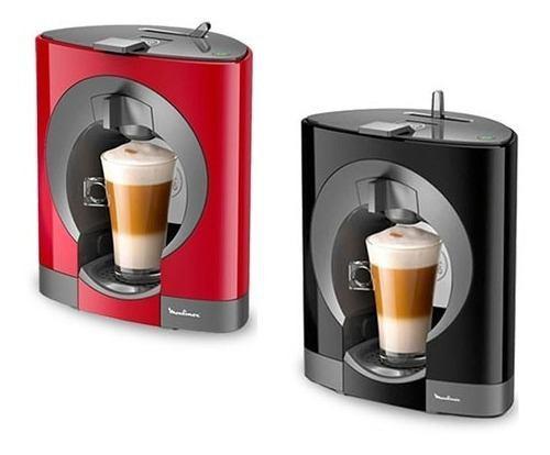 Cafetera Moulinex Oblo Dolce Gusto Nescafe Negra/roja 12c