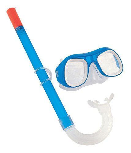Set De Snorkel Antiparra Mascara Y Tubo Bestway Buceo Niño