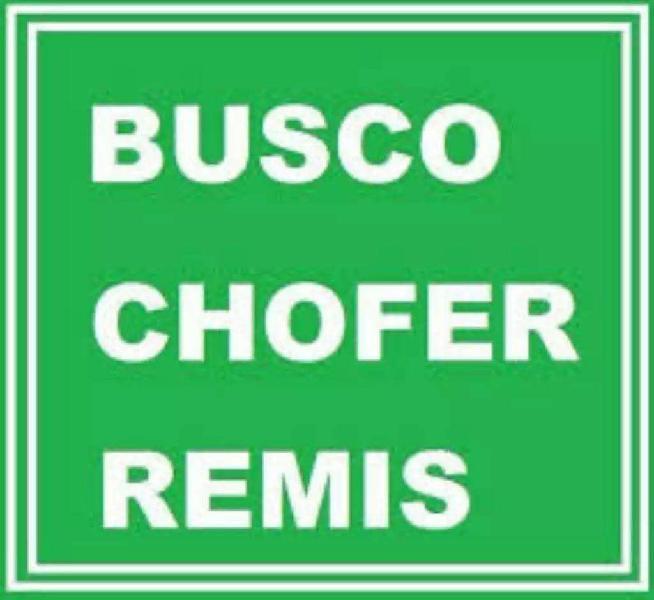 Busco Chofer para Remis