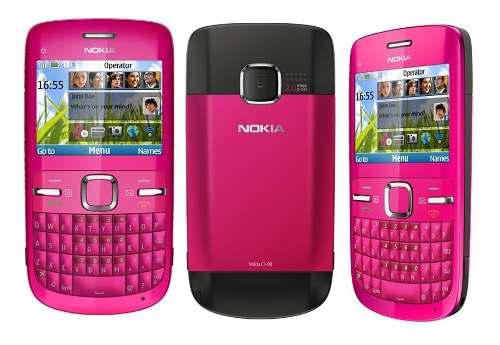 Carcasa Nokia C3 Completo C/teclas Fucsia