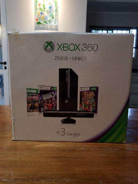 Xbox 360 Ultra Slim 250gb Kinect, 2 Joystick Y Juegos
