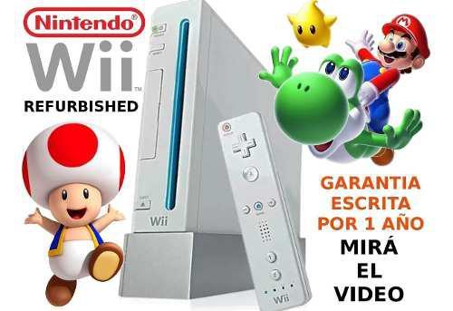 Consola Nintendo Wii Reacond + Accesorios + 1 Año Garantía