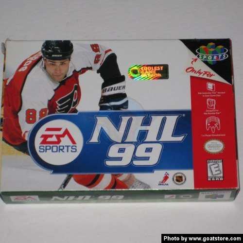 Nintendo 64 Nhl 99 Ea Sports Solo La Caja Y El Libro.