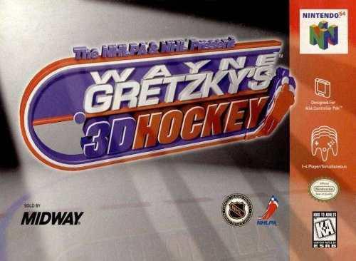Nintendo 64 Wayne Gretzky Hockey Solo La Caja Y Libro