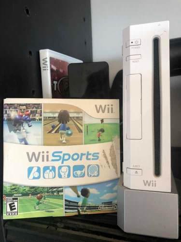 Nintendo Wii Con 4 Wii Mote 4 Nunchaku Top Spin