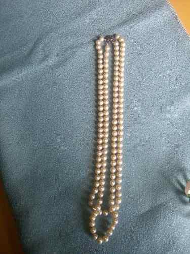 Collar De Perlas Fantasía Antiguo