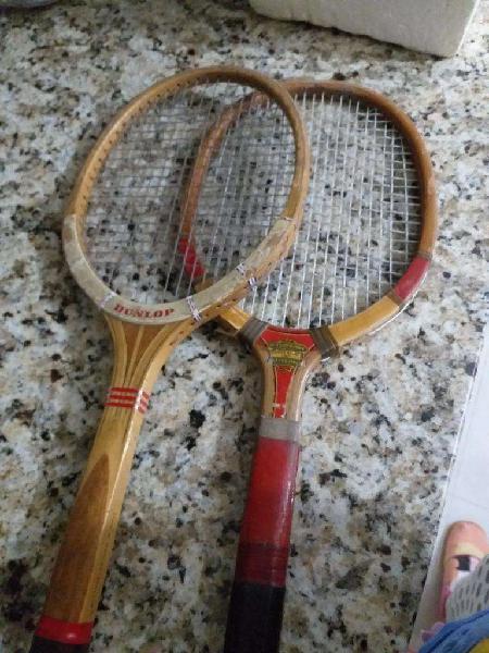 Dos Raquetas de Tenis de Madera Antiguas