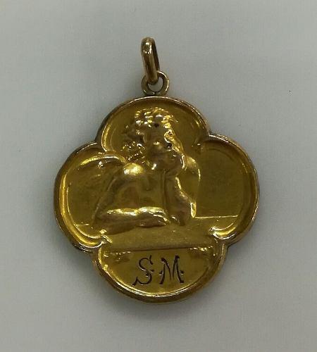 Medalla Art Noveau Oro Fix Francesa 3.87 Grs
