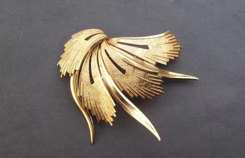 Prendedor Broche Antiguo Enchapado Oro