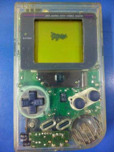 Game Boy Classic Original Transparente Con Detalles