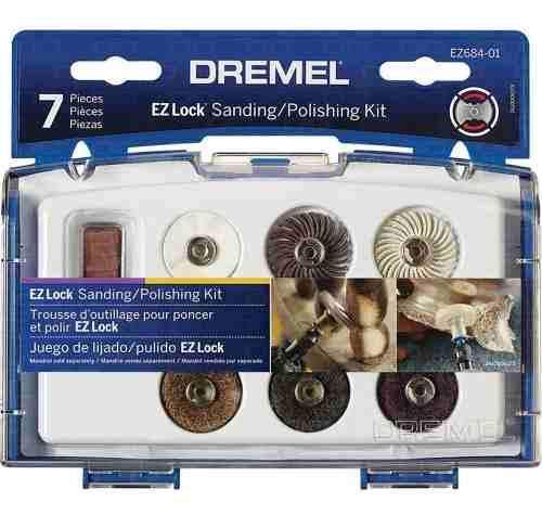 Kit Dremel Ez-lock Ez684 7 Accesorios Para Lijar Y Pulir