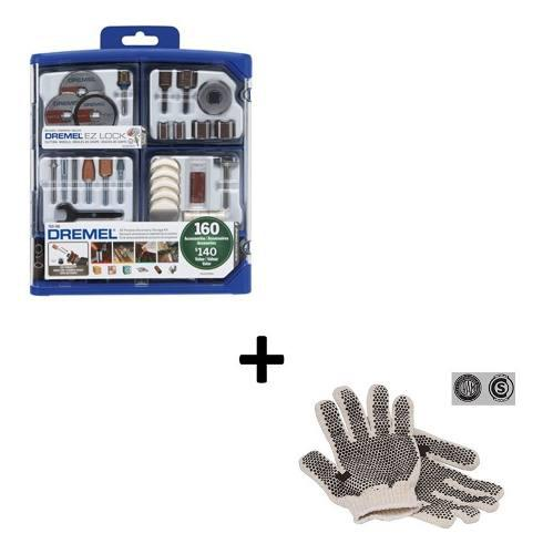 Kit Set Accesorios Minitorno 710 Dremel 160 Piezas + Guantes