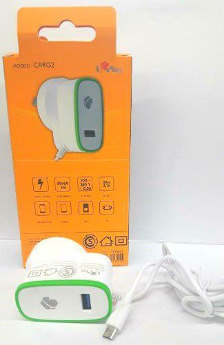 Cargador Rapido Usb A 220v Cable Micro Usb 2.1a Smartphones
