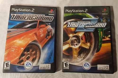 Juego Need For Speed Underground 1 Y 2 Físico Ps2 Valor C/u