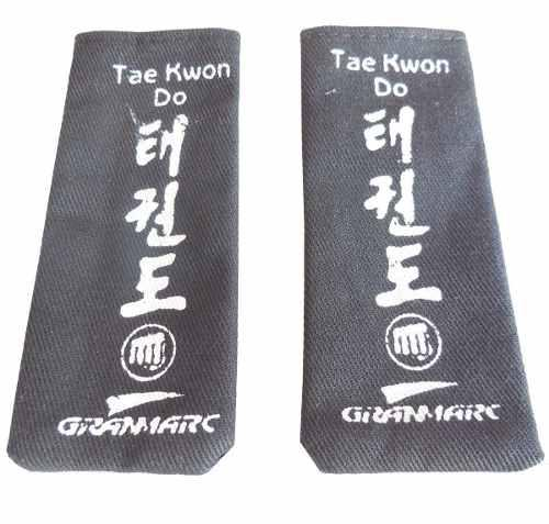 Par De Puntas Cinturon De Taekwon-do Colores Oficial Itf Wtf