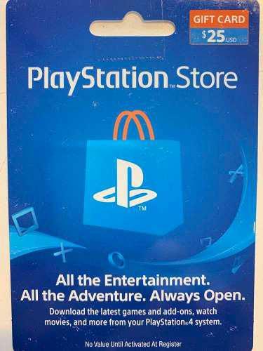 Tarjeta De 25u$s Para Play Station 3/4, Pc Vita Cuenta Usa