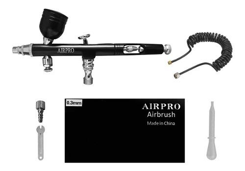 Aerografo Airpro Doble Accion Copa 0,3 Mm + Accesorios +