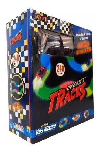 Pista Magnific Tracks Grande 240 Piezas Autos Luminoso