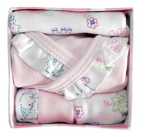 Caja B4 Ajuar Bebé Nacimiento 4 Pza Variedad Babyshower