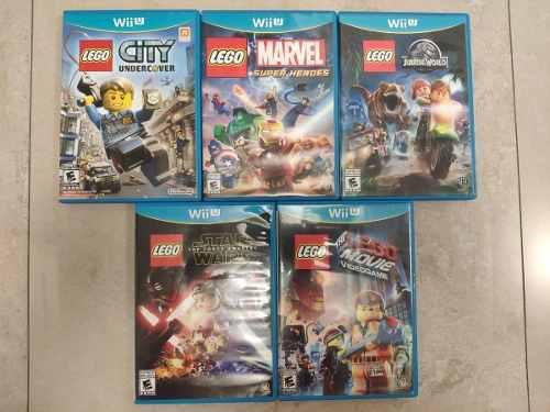 Wii U Combo 5 Juegos Lego (usados)