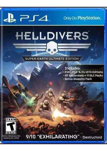 Helldivers Juego Físico Playstation 4 Ps4 Sellado!!!